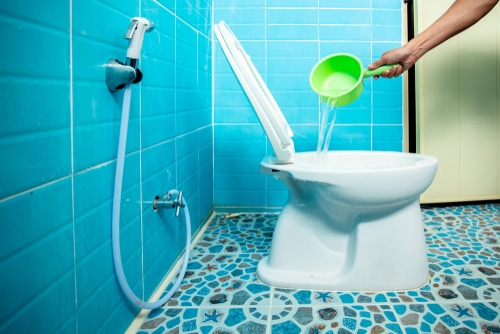 How do you clean toilet pipes